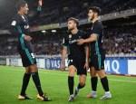 Mayoral, Varane y Asensio celebran uno de los goles