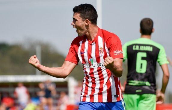 Claudio será la referencia ofensiva del filial sportinguista en Lezama (Foto: Real Sporting)