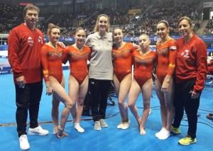 El equipo español (via @RFEGimnasia)