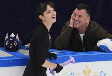Evgenia Medvedeva y Brian Orser