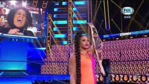 Bianca Belair, Campeona Femenina de SmackDown y Bayley.