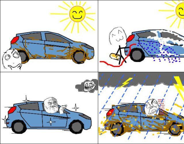 Não deixe de lavar o seu carro em períodos de chuva