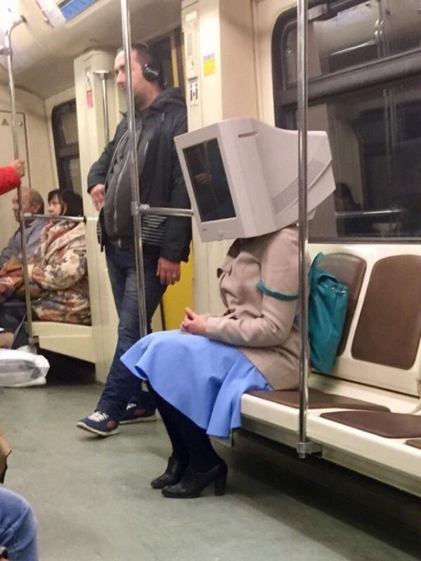Pessoas no metrô