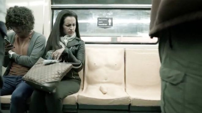 "WATCH: Mexico City subway installs ""penis seat"" to speak up against sexual harrassment"