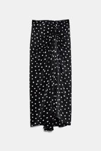Falda negra lunares zara