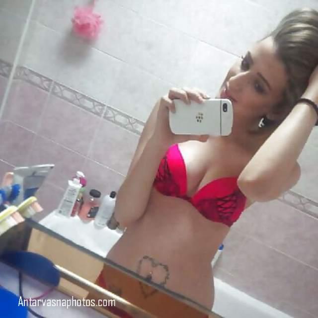 beautiful NRI teen red bra me