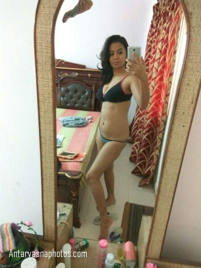 bra panty me nude selfie