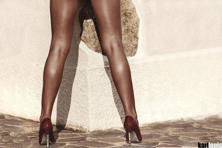 Francesca Felucci Nude Red Heels