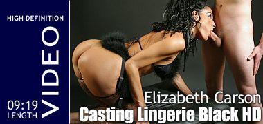 Elizabeth Carson Casting Lingerie Black HD