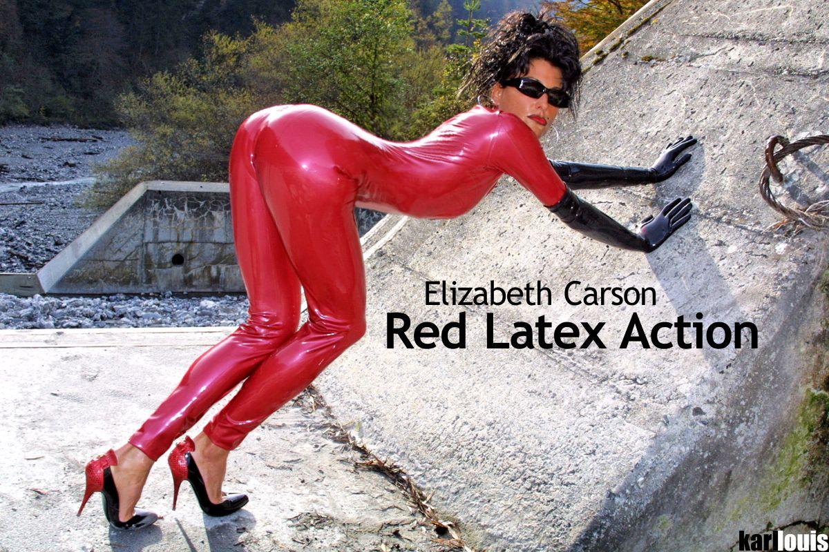 Elizabeth Carson - Red Latex Action