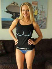 Brooke Marks in skimpy blue panties