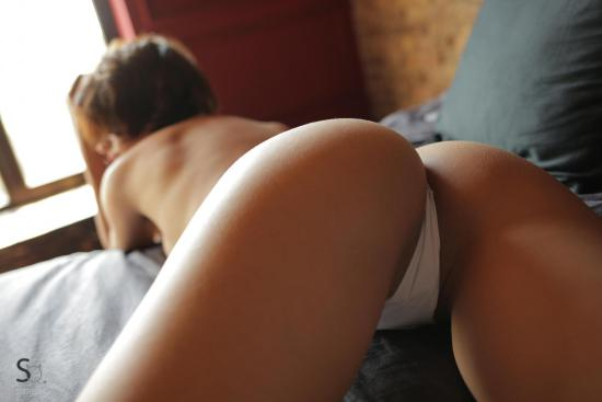 NatellaQ gives a nice close up of her hot ass in white panties-StasyQ