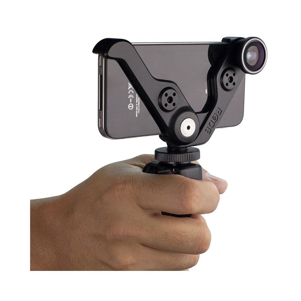 RODE Grip+ Support Multi-fonctions et lentille pour iPhone 5 et iPhone 5s