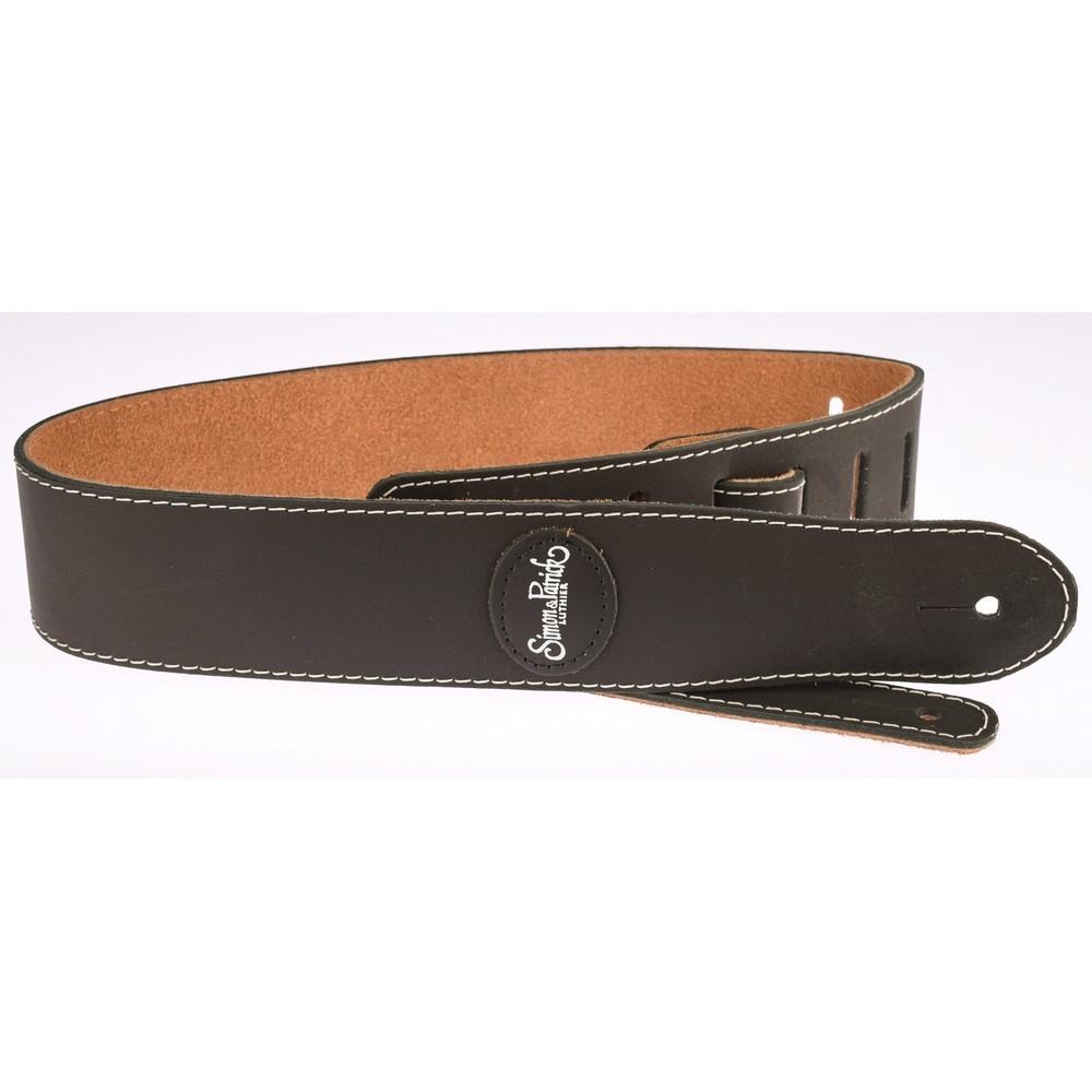 S&P Strap Mat Black Leather GS-124BK Noire
