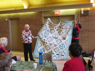 Marilyn's Quilt - A sampler in blues