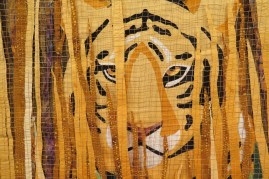 Detail - Tiger in Tall Grass by Carla DiPietro