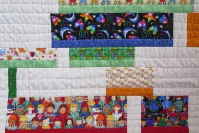 Wendy's modern I Spy quilt - detail