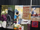 """Partial - Slices of Market Life by Margaret Notar, Waterloo, Ontario ... """"a quilted tribute"""" to a burnt marketplace."""