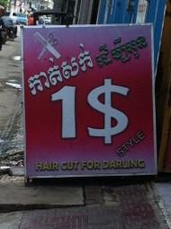 Hair cut for darling..... Lol ok