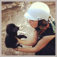 As we were about to leave our place in Thailand we discovered a wandering puppy. He was SOOOO cute and wimpered ever so quietly. By the way, don't you love my stupid rental helmet. Might save me..... might not!