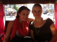 Whitney and Abby! Here we were on our way for a bethel tour in the comforts of a tuk tuk. Good times!!