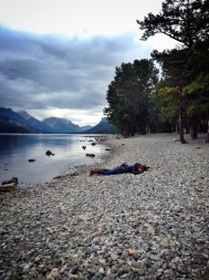Looks like I was washed up on the shore...yeah, I know. I don't look like I am sleeping at all....dead! ARGH!!!