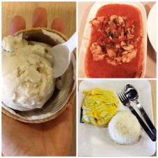So the meals cost about $2 USD each or less and the coconut ice cream was 75 cents! I love this food so much!!