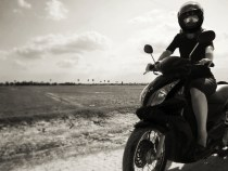 Wide open spaces, crazy dirt roads....skirts and motos. Fun times.