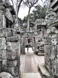 Slightly smaller doorways than its neighbor Wat Angkor.