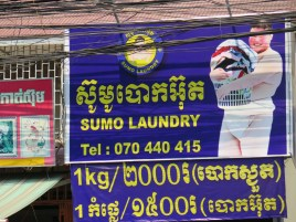 Please tell me why, but there are SO many advertisements here for Laundry service that features SUMO wrestlers doing the laundry. I just don't get it.