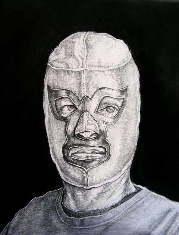 Sergio Teran - Artist Echo Park Los Angeles Masks in Paintings & Drawings (1/5)