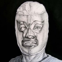 Sergio Teran - Artist Echo Park Los Angeles Masks in Paintings & Drawings