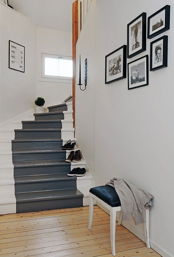 19 Painted Staircase Ideas For Your Home Decor Inspiration   Wall Painting Designs For Staircase   Simple   Decorative   Two Tone   Modern   Hall Nature