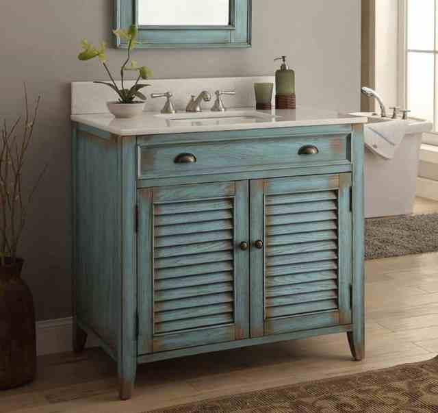 diy rustik banyo vanity