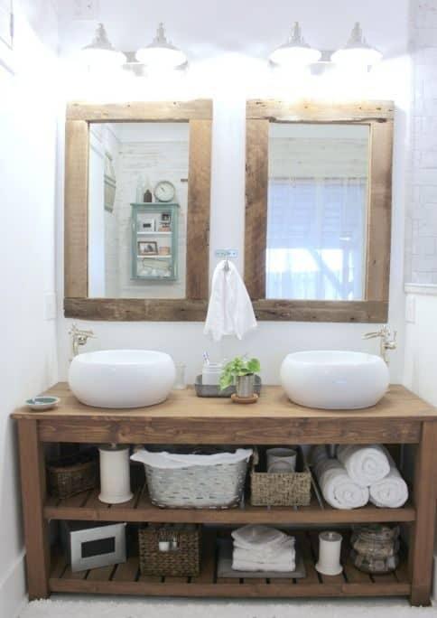 rustik banyo makyaj planları