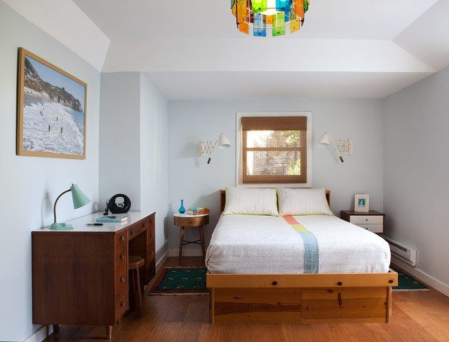orta yüzyıl tarzı yatak odası