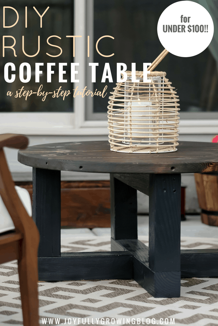 build a round outdoor coffee table