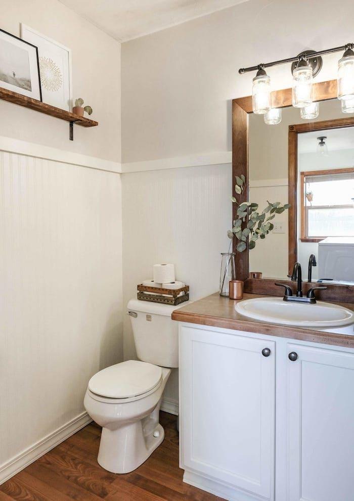 9 farmhouse bathroom remodel ideas on a