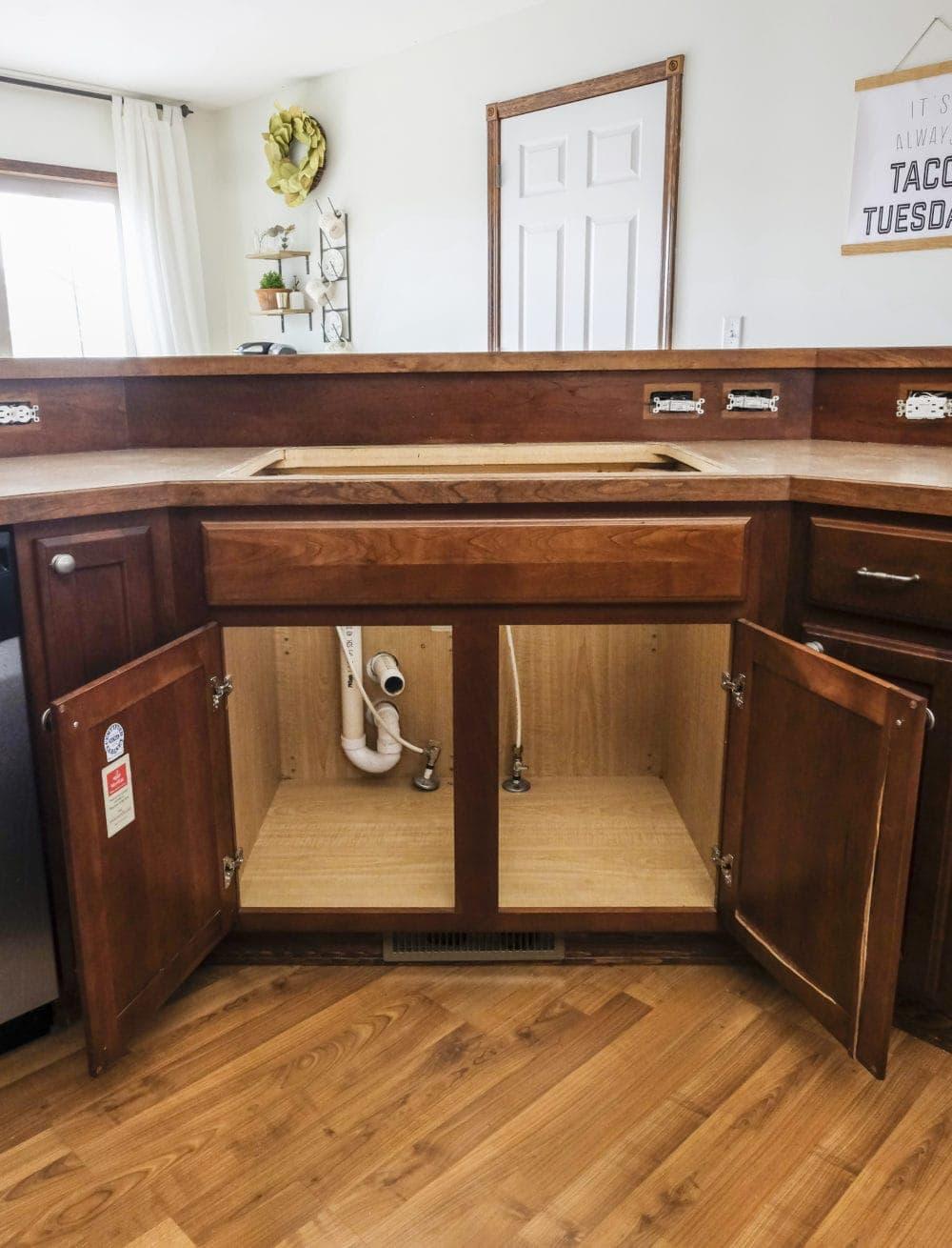 diy farmhouse sink installation easy