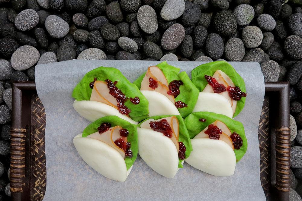 Festive recipe Raspberry  Ham Mantou  Marie France Asia womens magazine
