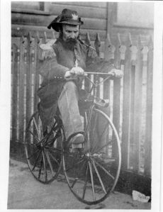 Emperor Norton on a velocipede
