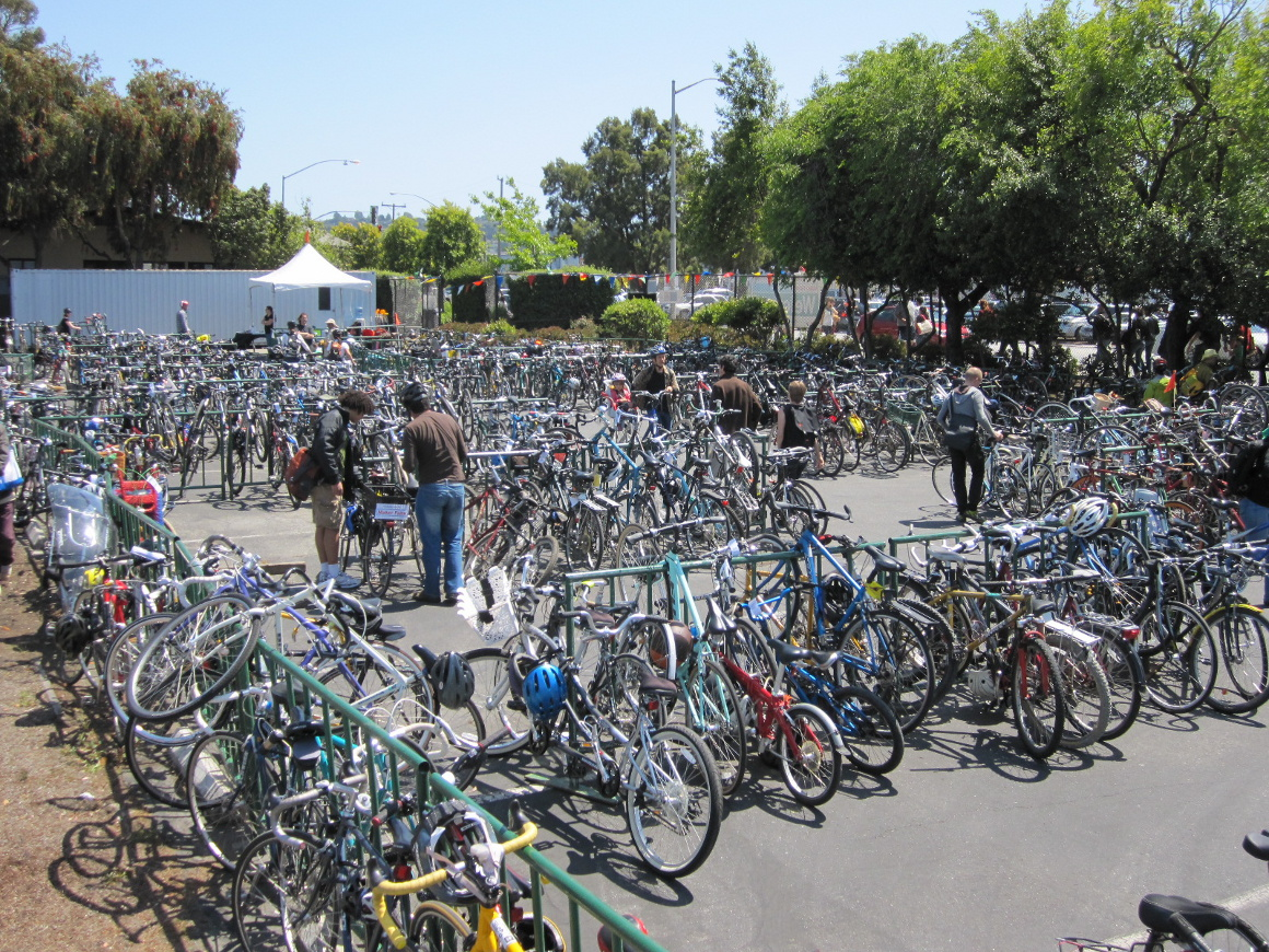 Bike Valet Parking at Maker Faire.