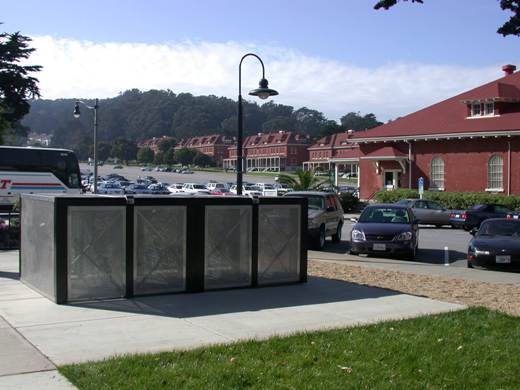 Bike Lockers at Presidio Transit Center in San Francisco