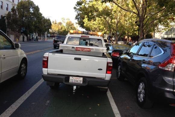 Truck Parked in San Jose Bike Lane