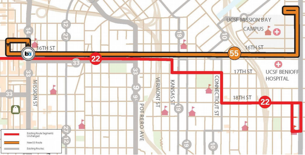 The Proposed 55 16th Street Muni Line