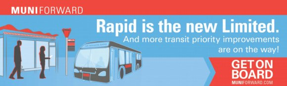 """""""Muni Forward"""" upgrades coming include increased service along with branding changes. Image: SFMTA"""