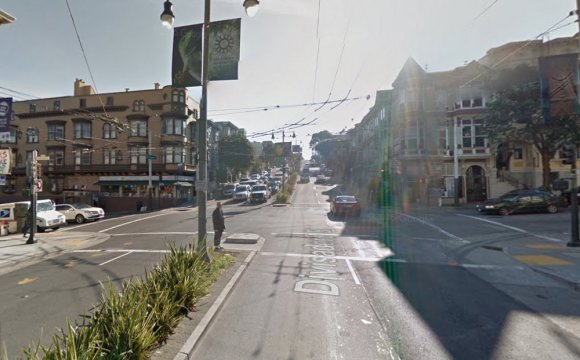 Divisadero, looking southbound at Haight. Photo: Google Street View