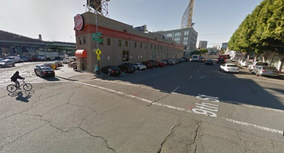 Improvements will soak up some of the excessively-wide roadway at the Ninth at Division. Photo: Google Maps