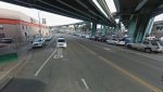 The bike lanes on a block of Division, between 9th and 10th Streets, will get a parking-protected redesign this fall. Photo: Google Maps