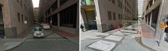 Stevenson's previous iterations, as seen in 2007 (left) and 2012 (right). Photos: Google Street View